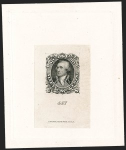 Sale Number 1195, Lot Number 44, 1861 Contract Essays: 90-Cent National Bank Note Co., 90c Black, First Design, Large Die Essay on India (72-E7b), National Bank Note Co., 90c Black, First Design, Large Die Essay on India (72-E7b)