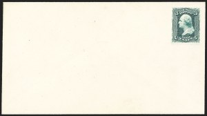 Sale Number 1195, Lot Number 57, 1861-66 Envelope EssaysNational Bank Note Co., 3c Green on Cream entire, 1861 Issue Essay (Undersander E-27E), National Bank Note Co., 3c Green on Cream entire, 1861 Issue Essay (Undersander E-27E)