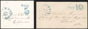Sale Number 1196, Lot Number 1000, Confederate States: Handstamped Paid and DueColumbia S.C, Columbia S.C
