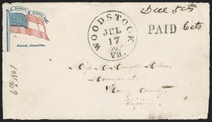 Sale Number 1196, Lot Number 1003, Confederate States: Handstamped Paid and DueWoodstock Va. Jul. 17, 1861, Woodstock Va. Jul. 17, 1861