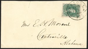 Sale Number 1196, Lot Number 1005, Confederate States: General Issues5c Dark Green, Stone 1 (1b), 5c Dark Green, Stone 1 (1b)