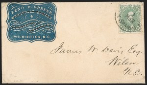 Sale Number 1196, Lot Number 1008, Confederate States: General Issues5c Green, Stone 1 (1), 5c Green, Stone 1 (1)