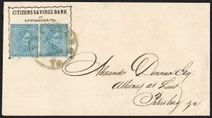 Sale Number 1196, Lot Number 1021, Confederate States: General Issues5c Blue, Local (7), 5c Blue, Local (7)