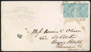 Sale Number 1196, Lot Number 1022, Confederate States: General Issues5c Blue, Local (7), 5c Blue, Local (7)
