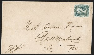 "Sale Number 1196, Lot Number 1026, Confederate States: General Issues10c Gray Blue, ""TEN"" (9b), 10c Gray Blue, ""TEN"" (9b)"