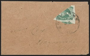Sale Number 1196, Lot Number 1035, Confederate States: General Issues20c Green, Diagonal Half Used as 10c (13d), 20c Green, Diagonal Half Used as 10c (13d)