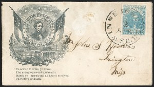 Sale Number 1196, Lot Number 1041, U.S. and Confederate States Group LotsConfederate Patriotic Cover Balance, Confederate Patriotic Cover Balance