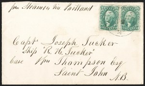 Sale Number 1196, Lot Number 1099, British North America and St. Pierre & Miquelon10c Green, Ty. III-IV (33-34), 10c Green, Ty. III-IV (33-34)
