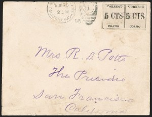 Sale Number 1196, Lot Number 1116, CaribbeanPUERTO RICO, Coamo Provisional, 1898, 5c Black, Ty. III-III (201), PUERTO RICO, Coamo Provisional, 1898, 5c Black, Ty. III-III (201)