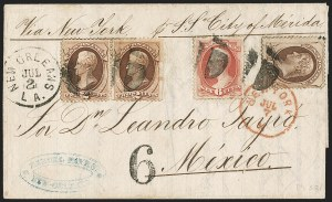 Sale Number 1196, Lot Number 1135, Mexico and Central America10c Brown (150), 10c Brown (150)