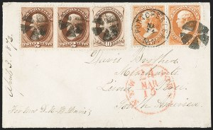 Sale Number 1196, Lot Number 1166, South America15c Bright Orange (152), 15c Bright Orange (152)