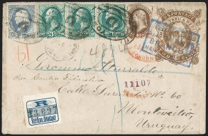 Sale Number 1196, Lot Number 1174, South America10c Brown, With Secret Mark (188), 10c Brown, With Secret Mark (188)