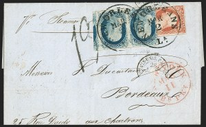 Sale Number 1196, Lot Number 1208, France (including Algeria and Corsica)1c Blue, Ty. IV (9), 1c Blue, Ty. IV (9)