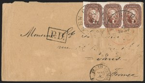 Sale Number 1196, Lot Number 1213, France (including Algeria and Corsica)5c Red Brown (12), 5c Red Brown (12)