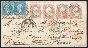 Sale Number 1196, Lot Number 1218, France (including Algeria and Corsica)3c Rose (65), 3c Rose (65)