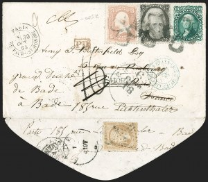 Sale Number 1196, Lot Number 1222, France (including Algeria and Corsica)2c Black (73), 2c Black (73)