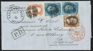 Sale Number 1196, Lot Number 1244, France (including Algeria and Corsica)6c Dull Pink (159), 6c Dull Pink (159)