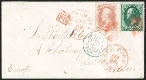 Sale Number 1196, Lot Number 1245, France (including Algeria and Corsica)6c Dull Pink (159), 6c Dull Pink (159)