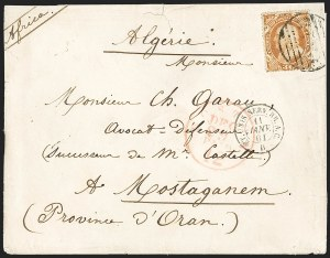Sale Number 1196, Lot Number 1252, France (including Algeria and Corsica)30c Orange (38), 30c Orange (38)