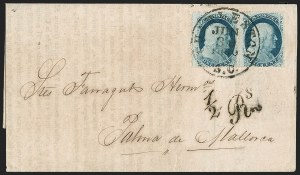 Sale Number 1196, Lot Number 1254, Spain and Portugal1c Blue, Ty. V (24), 1c Blue, Ty. V (24)