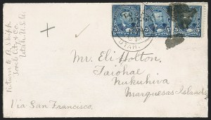 Sale Number 1196, Lot Number 1448, Samoa and South Pacific Islands5c Dark Blue (281), 5c Dark Blue (281)
