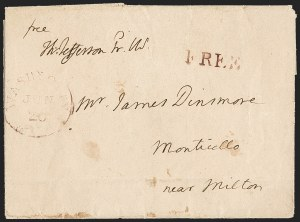 Sale Number 1196, Lot Number 502, Presidential Free Franks & Other DocumentsThomas Jefferson, Thomas Jefferson
