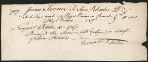 Sale Number 1196, Lot Number 511, Colonial & 19th CenturyColonial Period Slave Rental Document, Colonial Period Slave Rental Document