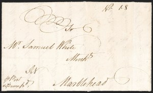 Sale Number 1196, Lot Number 512, Colonial & 19th Century1769, Newburyport to Marblehead, 1769, Newburyport to Marblehead