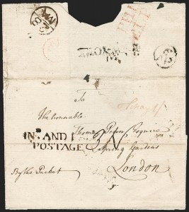 Sale Number 1196, Lot Number 515, Colonial & 19th Century1773, Philadelphia to London, England via New York, 1773, Philadelphia to London, England via New York