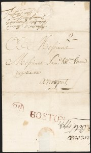 Sale Number 1196, Lot Number 516, Colonial & 19th Century1773, Marcoux, St. Croix to Newport via Boston, 1773, Marcoux, St. Croix to Newport via Boston