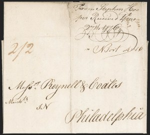 Sale Number 1196, Lot Number 517, Colonial & 19th Century1776, Newburyport to Philadelphia, 1776, Newburyport to Philadelphia