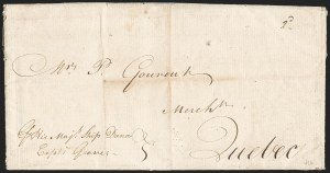 Sale Number 1196, Lot Number 519, Colonial & 19th Century1780, Portsmouth, England to Quebec, Canada, 1780, Portsmouth, England to Quebec, Canada