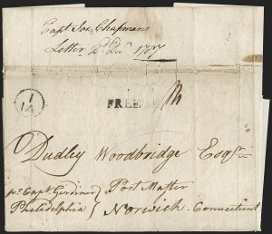 Sale Number 1196, Lot Number 521, Colonial & 19th Century1787, St. Croix to Norwich Conn, 1787, St. Croix to Norwich Conn