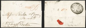Sale Number 1196, Lot Number 526, Ship Mail from 18001807, London, England to Boston, 1807, London, England to Boston