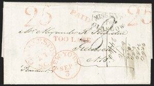Sale Number 1196, Lot Number 533, Ship Mail from 18001840, Augusta Ga. to Greenock, Scotland, 1840, Augusta Ga. to Greenock, Scotland