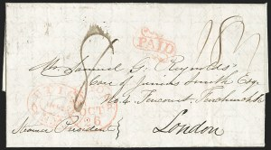 Sale Number 1196, Lot Number 535, Ship Mail from 18001840, Auburn N.Y, 1840, Auburn N.Y