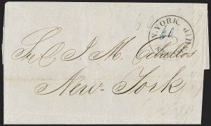 Sale Number 1196, Lot Number 543, Ship Mail from 18001855, Havana, Cuba to New York, 1855, Havana, Cuba to New York