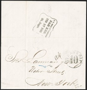 Sale Number 1196, Lot Number 550, Ship Mail from 18001866, Cuba to New York via Bermuda, 1866, Cuba to New York via Bermuda