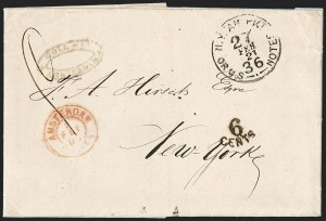 Sale Number 1196, Lot Number 551, Ship Mail from 18001867, Amsterdam, Holland to New York, 1867, Amsterdam, Holland to New York