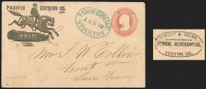 Sale Number 1196, Lot Number 573, California MailsPacific Express Co. Paid, Pacific Express Co. Paid
