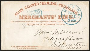 Sale Number 1196, Lot Number 579, Railroads & TelegraphsBains' Electro-Chemical Telegraph (New York State Merchant's Line), Bains' Electro-Chemical Telegraph (New York State Merchant's Line)