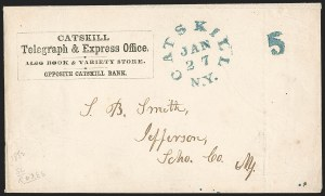 Sale Number 1196, Lot Number 580, Railroads & TelegraphsCatskill Telegraph & Express Office (New York State Merchant's Telegraph Company), Catskill Telegraph & Express Office (New York State Merchant's Telegraph Company)