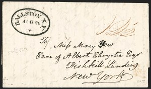 Sale Number 1196, Lot Number 591, New York Stampless Postal Markings (A thru H Towns)Ballston N.Y. * Aug. 26, Ballston N.Y. * Aug. 26