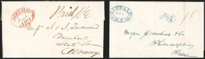 Sale Number 1196, Lot Number 599, New York Stampless Postal Markings (A thru H Towns)Buffalo N.Y. (1818-36), Buffalo N.Y. (1818-36)
