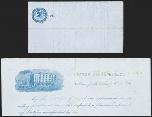Sale Number 1196, Lot Number 608, New York Stampless Postal Markings (A thru H Towns)Croton Mills N.Y. Printed Circular, Croton Mills N.Y. Printed Circular