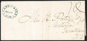 Sale Number 1196, Lot Number 655, New York Stampless Postal Markings (U thru Y Towns, balances)Sandy Hill N.Y. 1844-52, Sandy Hill N.Y. 1844-52