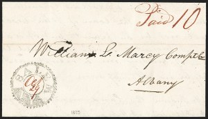 Sale Number 1196, Lot Number 656, New York Stampless Postal Markings (U thru Y Towns, balances)Salem N.Y. Oct. 29 (1825), Salem N.Y. Oct. 29 (1825)