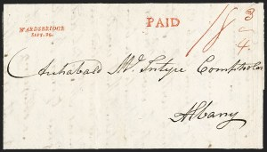 Sale Number 1196, Lot Number 674, New York Stampless Postal Markings (U thru Y Towns, balances)WARDSBRIDGE/SEPT. 26 (1815), WARDSBRIDGE/SEPT. 26 (1815)