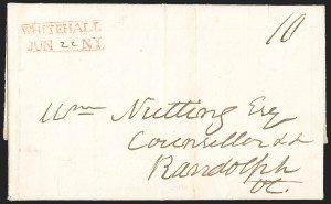 Sale Number 1196, Lot Number 679, New York Stampless Postal Markings (U thru Y Towns, balances)New York Town Straightlines, 1801-48, New York Town Straightlines, 1801-48