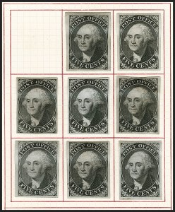 Sale Number 1196, Lot Number 696, Specialized New York Postmaster's Provisionals: Essays & ProofsNew York N.Y., 5c Black on Blue, Plate Proof on Bond (9X1P5b), New York N.Y., 5c Black on Blue, Plate Proof on Bond (9X1P5b)